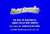 Ya no te necesito - Graciela Beltran (Karaoke)