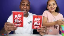 BURN OR BLISS! Extreme Hot & Spicy Chocolate Challenge Family Fun Games