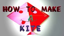 HOW TO MAKE A KITE FOR KIDS | HOW TO TIE A KITE | HOW TO MAKE A PAPER KITE | DIY KITE