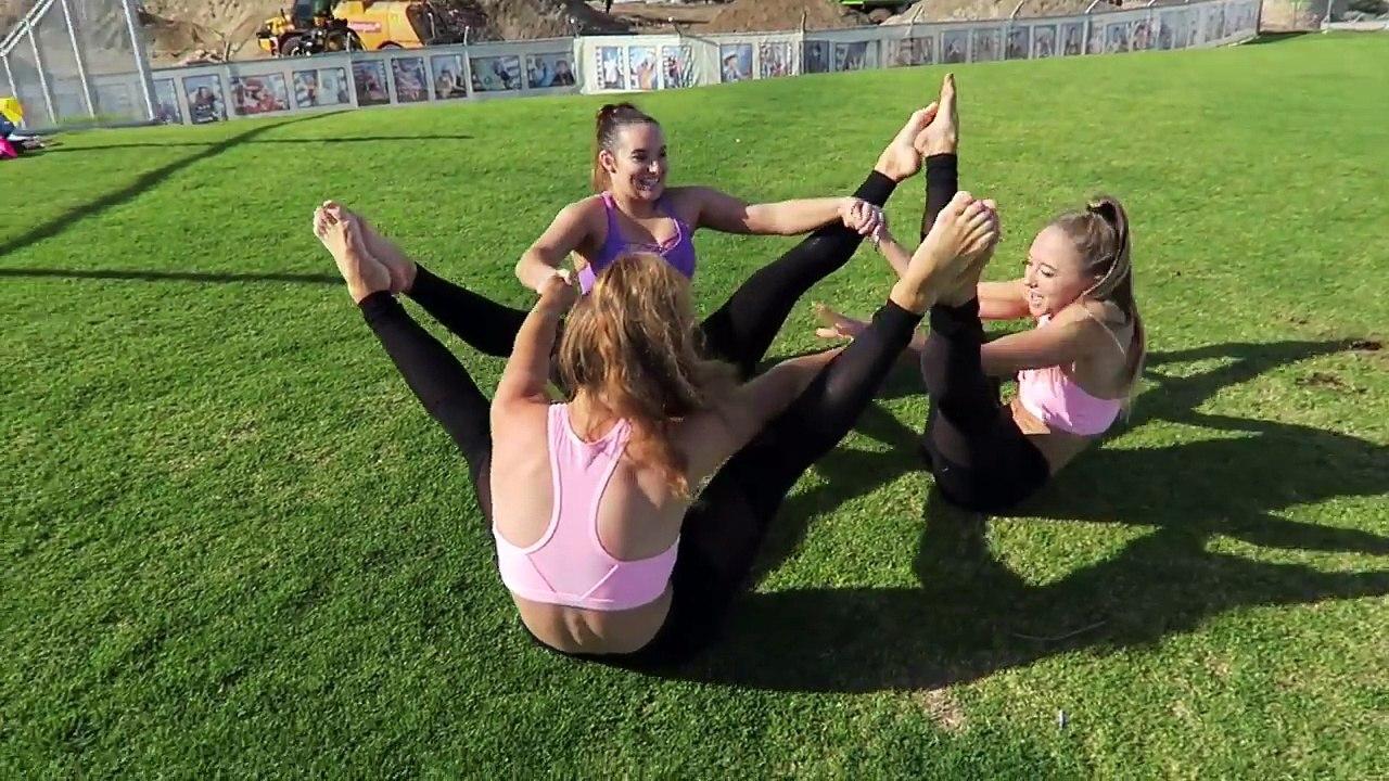 EXTREME YOGA CHALLENGE with 46 people!  The Rybka Twins