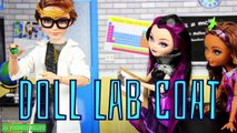 DIY - How to Make: Doll Lab Coat, Trench Coat, Designer Coat, Rain Coat - Handmade - Doll - Crafts