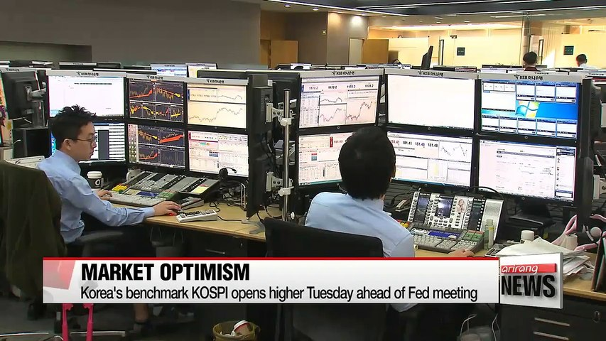 Korea's benchmark KOSPI opens higher Tuesday ahead of Fed meeting