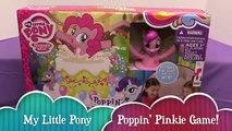 My Little Pony Poppin Pinkie Pie Surprise Game! Super Fun! Bin Vs. Jon! | Bins Toy Bin