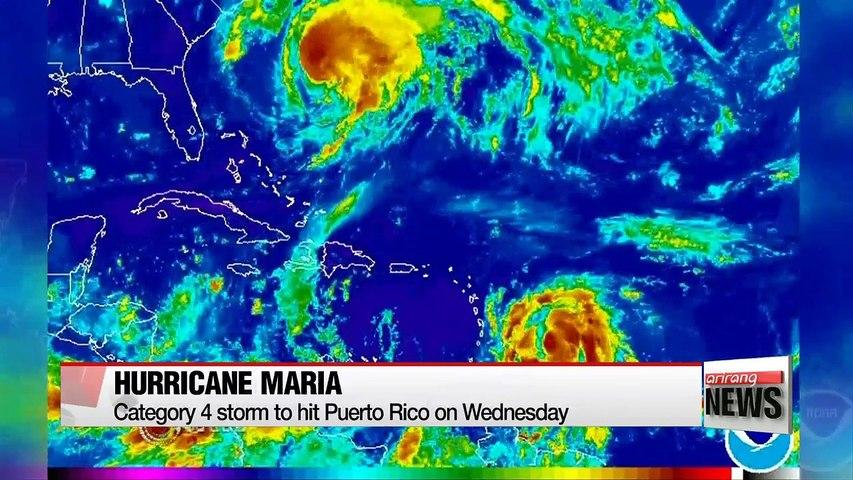 Hurricane Maria to hit Puerto Rico as category 4