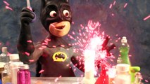 Bad Baby Batman Science Slime Experiment Play Doh Superhero Stop Motion in Real Life