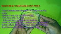 Homemade Hair Conditioner ~Treat Dry Damaged Frizzy Hair || Get Smooth Hair, Silky Hair, Shiny Hair