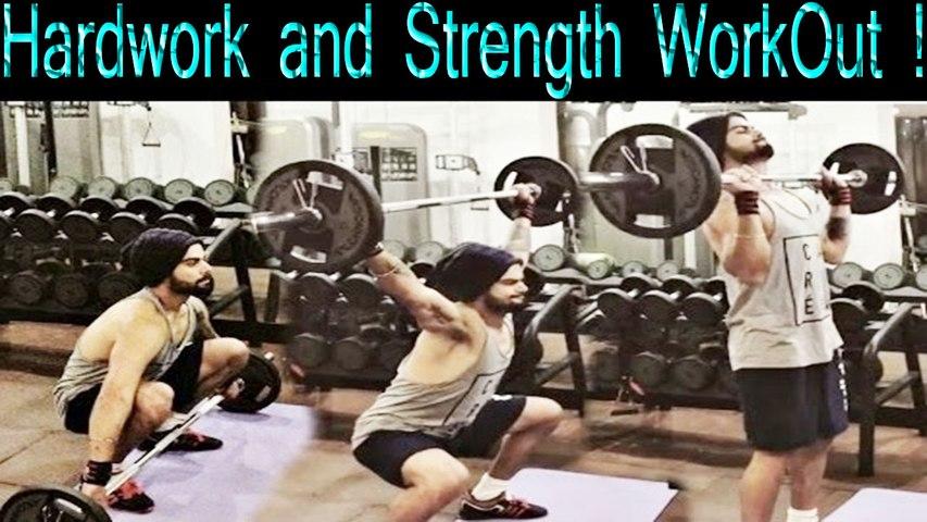 Sweat, Hardwork and Strength WorkOut ! Virat Kohli