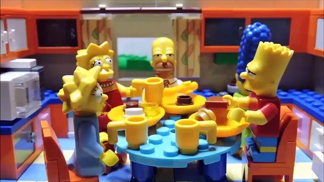Homers garden problems Lego Simpsons animation