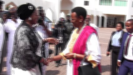 BUHARI HOSTS UGANDA PRESIDENT