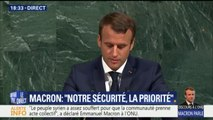 """Macron à l'ONU: """"La réponse militaire ne pourra jamais être la seule réponse"""""""