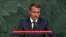 """Changement climatique : l'accord de Paris """"ne sera pas renégocié"""" affirme Macron devant l'ONU"""