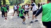 Rugby : le Stade Français à l'entrainement… aux Buttes-Chaumont