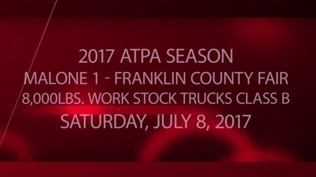 ATPA - Franklin County Fair - 07-08-2017 - 8,000lbs. Work Stock Trucks Class B