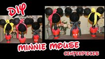 DIY Minnie & Mickey Mouse Centerpieces | Girls Birthday Party Decorating Ideas | Babys 1st BDAY