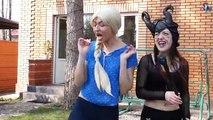 Spider-man Swat police vs Frozen Elsa and Maleficent. Battle Swat Police vs Frozen Elsa Maleficent