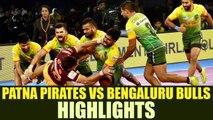 PKL 2017: Patna Pirates defeat Bengaluru Bulls 36-32, Highlights | Oneindia News