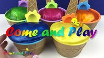 Ice Cream Cup Pearl Clay Slime Surprise Toys Spiderman MLP Kinder Surprise Finding Dory Learn Colors