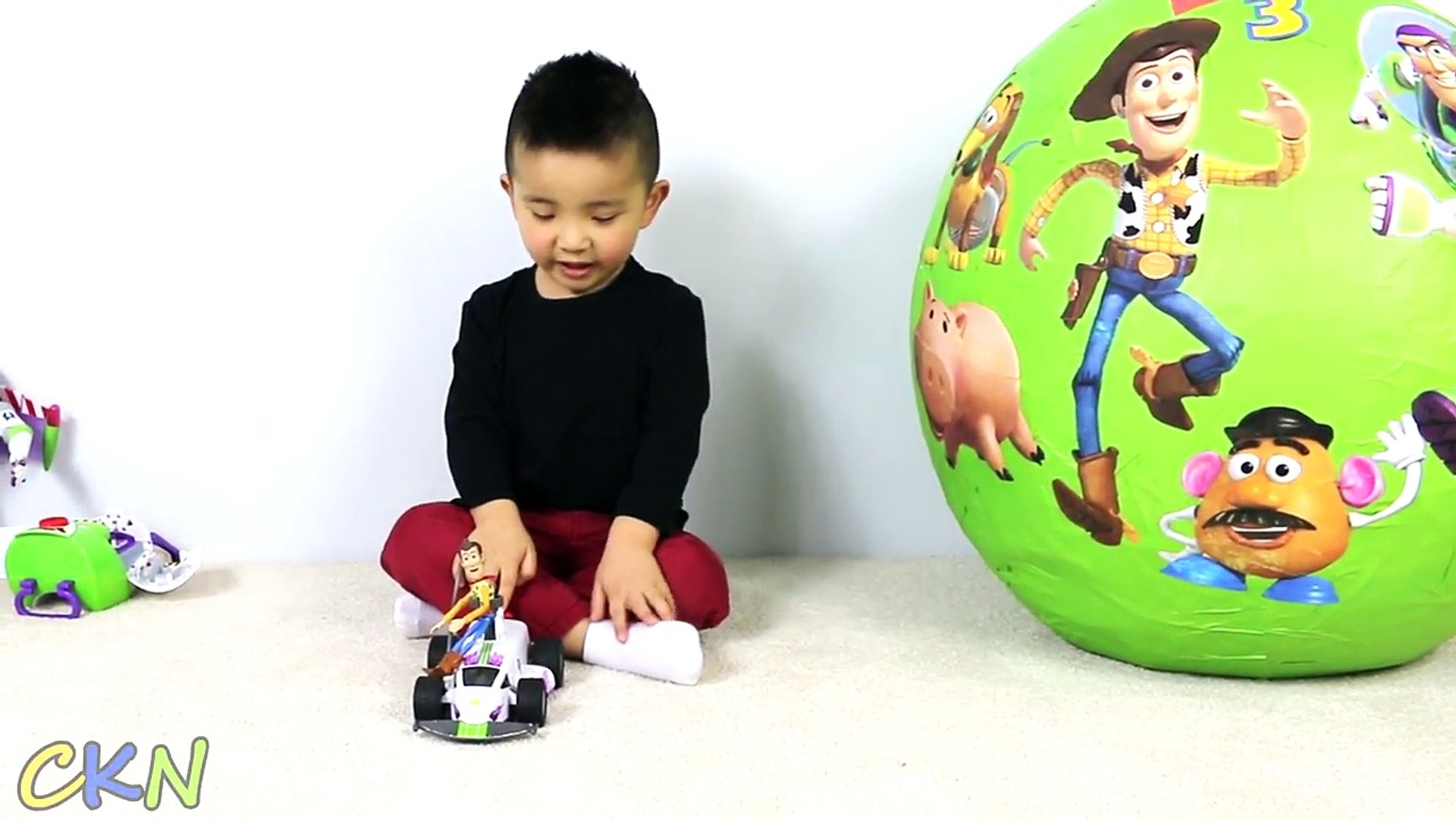 Disney Toy Story Super Giant Surprise Egg With Woody Buzz Lightyear Talking Toys Cars Ckn Toys