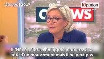 Tensions au FN: Marine Le Pen demande à Florian Philippot de choisir