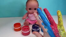 Les couleurs la famille doigt Apprendre garderie pupsiki chanter doigts chanson manger sucettes bonbons
