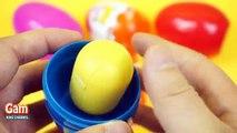 Super Surprise Eggs Kinder Surprise Kinder Joy Disney Frozen Elsa Peppa pig car toys Learn colors