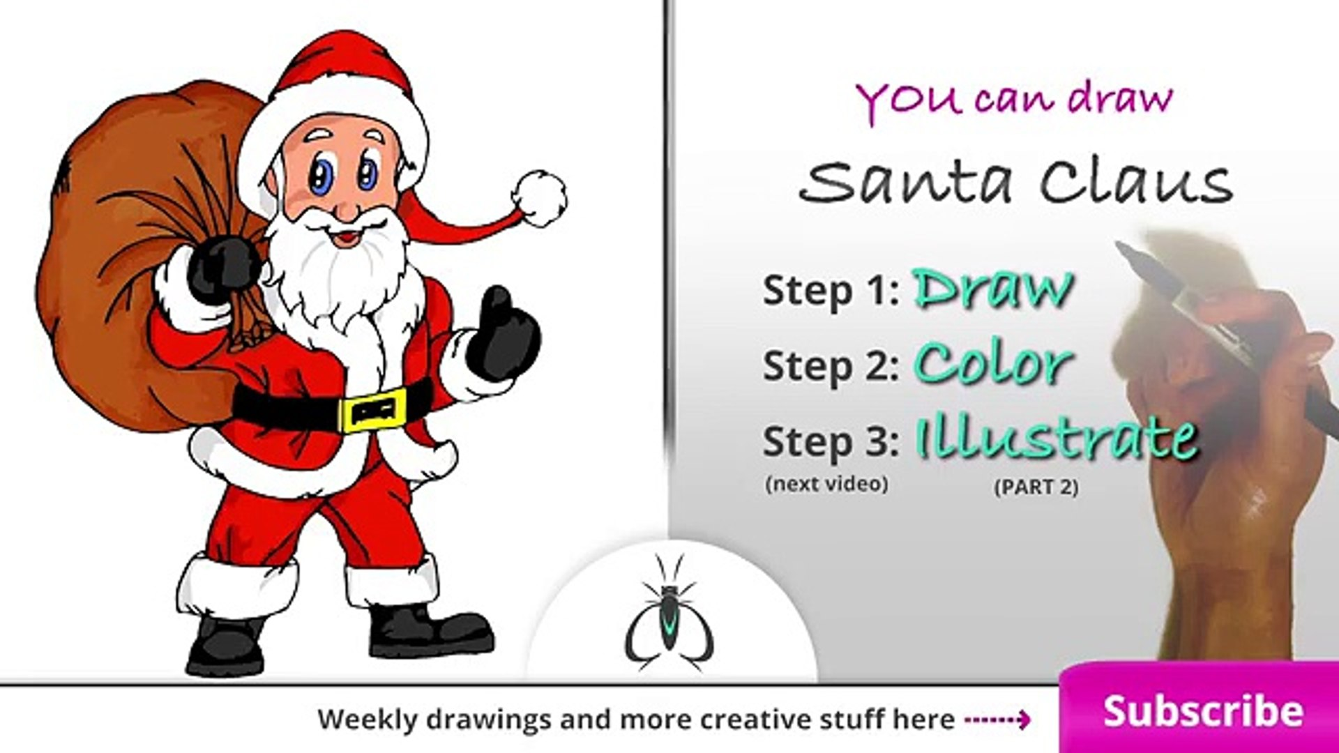 how to draw santa claus step by step easy art lesson video dailymotion how to draw santa claus step by step easy art lesson