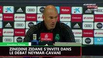Zinedine Zidane s'invite dans la polémique Neymar-Cavani (Vidéo)