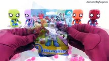Spiderman Learn Colors! Play-Doh Dippin Dots Candy Skittles Jelly Beans Paint Can Toy Surprises!