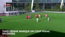 Zinedine Zidane : Le magnifique coup franc de son fils Théo Zidane (Vidéo)