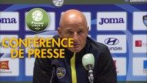 Conférence de presse Havre AC - FC Sochaux-Montbéliard (1-0) : Oswald TANCHOT (HAC) - Peter ZEIDLER (FCSM) - 2017/2018