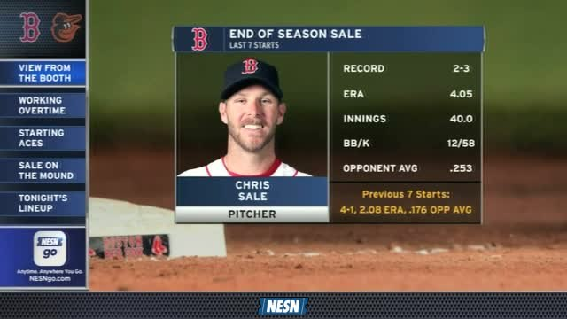 Red Sox Gameday Live: Chris Sale