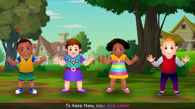 Wash Your Hands Song for Kids  Good Habits Nursery Rhymes For Children  ChuChu TV
