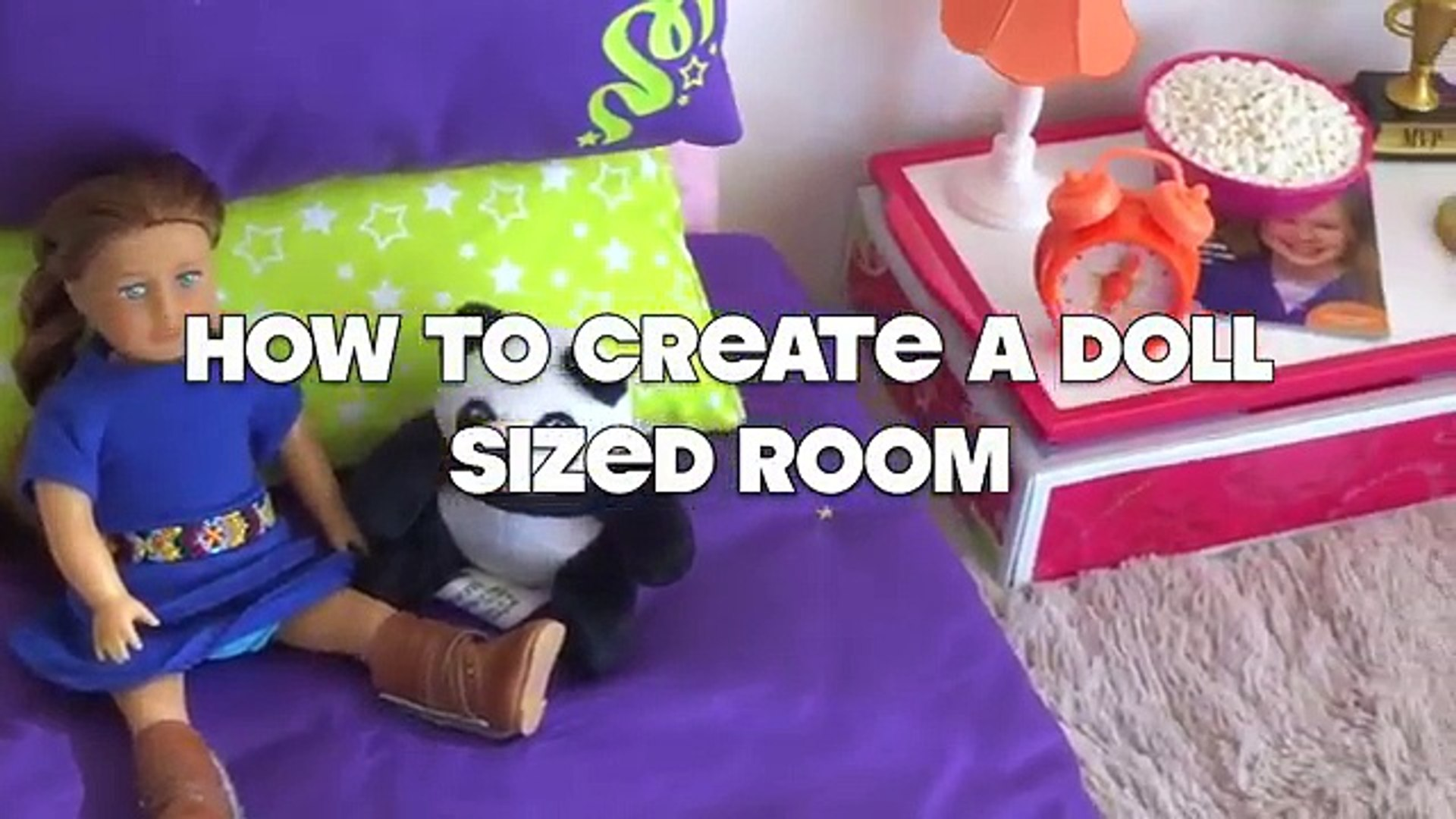 Setting Up American Girl Dollhouse Room