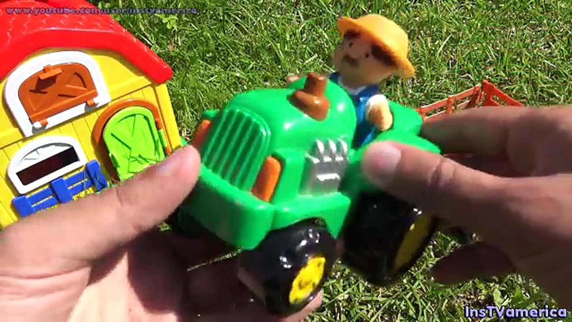 Farm and tror play set American farmer and Horse cow duck pig sheep Toys