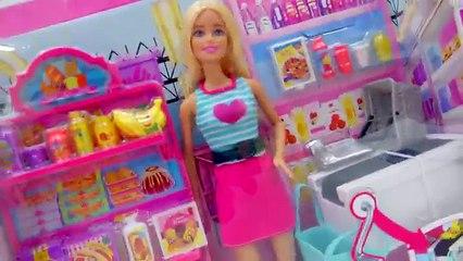 Пр Барби Колорадо Колорадо какие Колорадо кукла дом мечты продуктовый в в в в жизнь рынок Набор для игр Магазин в игрушка распаковка Малибу