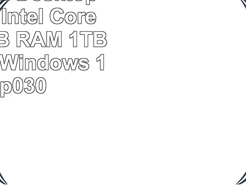 HP Pavilion Desktop Computer Intel Core i77700 12GB RAM 1TB hard drive  Windows 10