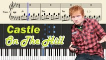 Castle On The Hill - Piano Tutorial + SHEETS - Ed Sheeran Lyrics - Synthesia Music Lesson - YouTube