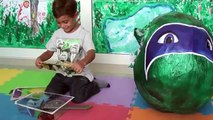 SUPER OVO SURPRESA GIGANTE :: Ovo Tartarugas Ninja Brinquedos em Português DisneySurpresa