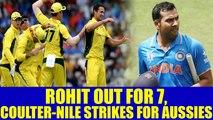 India vs Australia 2nd ODI : Rohit Sharma fails again, Coulter – Nile Strikes | Oneindia News