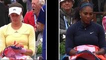 Ralentis Williams Muguruza Roland Garros 2016