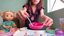Un et un à un un à vivant bébé maison maison comment faire des aliments pour bébés dans la poupée sans abîmer