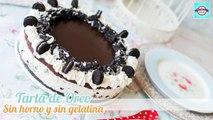 Cheesecake o tarta fría de Oreo | Sin horno, sin gelatina y sin complicaciones | Quiero Cupcakes!