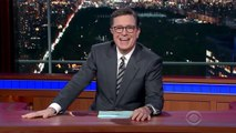 Stephen Colbert Pokes Fun at Trump for Obsession With Ratings | THR News