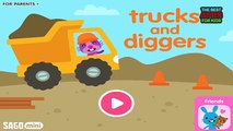 Sago Mini Trucks and Diggers | Best iPad app demo for kids | Gameplay For Toddlers