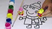 Свинка Пеппа раскраска красками. Игрушки Свинка Пеппа. Peppa Pig coloring