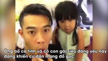 Clip Hài   Chết cười với clip ông bố cùng con gái diễn hài siêu đáng yêu