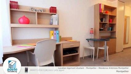 Location logement étudiant - Montpellier - Résidence Artémisia Montpellier