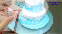 Un et un à un un à par par gâteau Comment faire faire neige à Il blanc Disney neige gâteau blanc cakesstepbystep