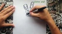 Como dibujar a plush trap de five nights at freddys 4 | how to draw plushtrap