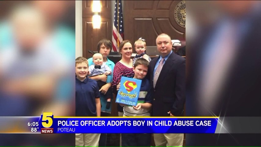 Cop Saves 8-Year-Old From Child Abuse And Adopts Him